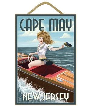 Cape May, New Jersey - Boating Pinup Gir