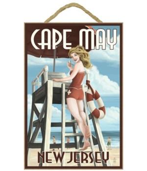 Cape May, New Jersey - Lifeguard Pinup G