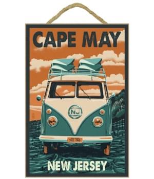 Cape May, New Jersey - VW Van Letterpres