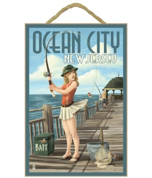 Ocean City, New Jersey - Fishing Pinup G