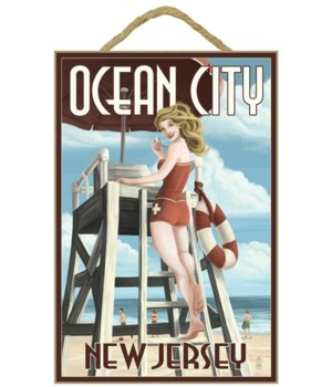 Ocean City, New Jersey - Lifeguard Pinup