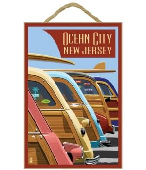 Ocean City, New Jersey - Woodies Lined U