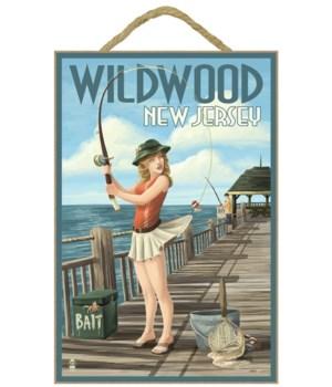 Wildwood, New Jersey - Fishing Pinup Gir