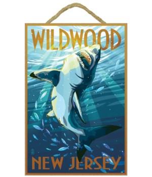Wildwood, New Jersey - Stylized Shark -