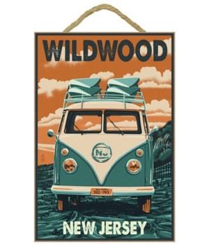 Wildwood, New Jersey - VW Van Letterpres