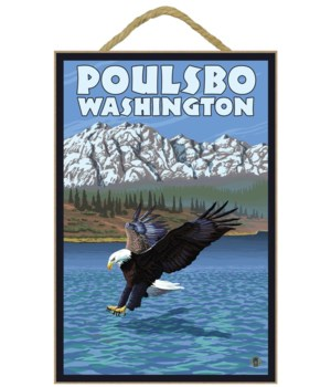 Poulsbo, Washington - Eagle Fishing - La