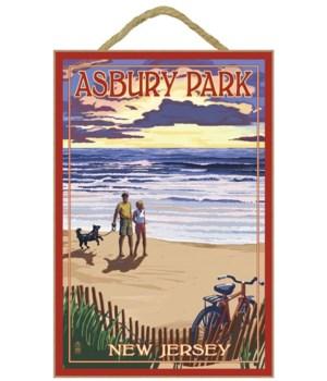 Asbury Park, New Jersey - Beach & Sunset
