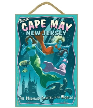 Cape May, New Jersey - Mermaids Vintage