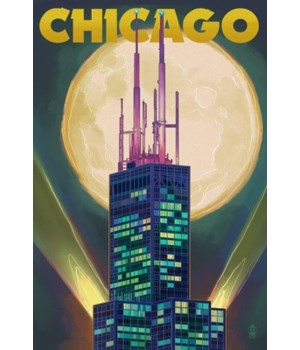 Chicago, Illinois - Willis Tower & noull