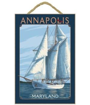 Annapolis, Maryland - Sailboat Scene - L