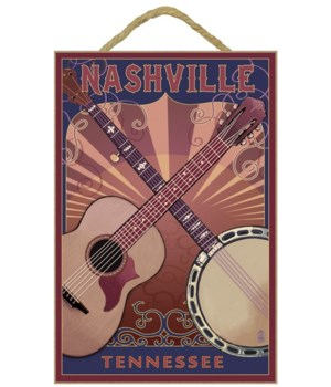 Nashville, Tennessee - Guitar and Banjo