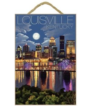 Louisville, Kentucky - Skyline at Night