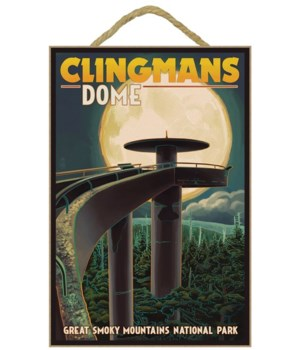 Clingmans Dome and Moon - Great Smoky Mo