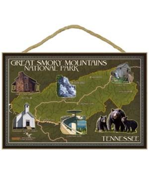 Soft Map - Great Smoky Mountains Nationa