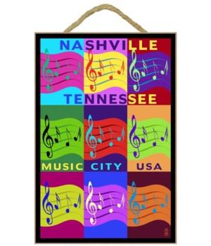 Music note Pop Art - Nashville, Tennesse