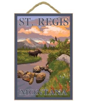 St. Regis, Montana - Moose & Mountain St