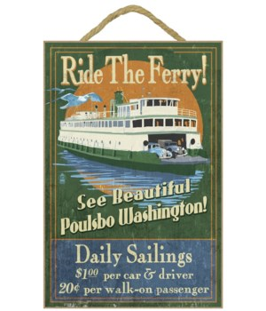 Poulsbo, Washington - Ferry Ride Vintage