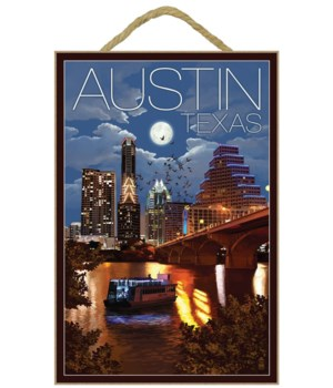 Austin, Texas - Skyline at Night - Lante