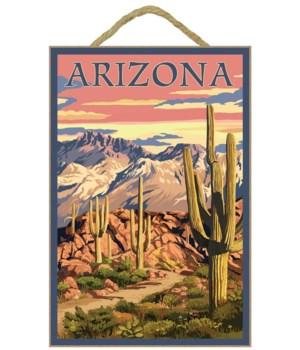 Arizona Desert Scene at Sunset - Lantern