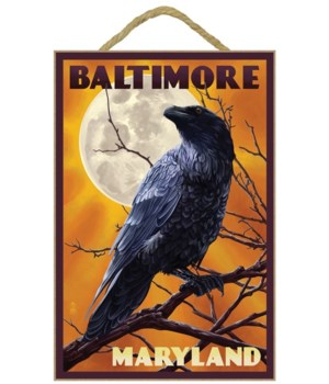 Baltimore, Maryland - Raven and Moon - L
