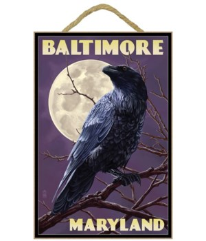 Baltimore, Maryland - Raven and Moon Pur