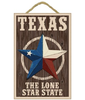 Texas - Barn Star Letterpress - Lantern
