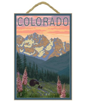 Colorado - Bears & Spring Flowers - Lant