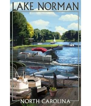 Lake norman, north Carolina - Pontoon Bo