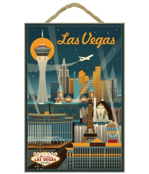 Las Vegas, Nevada - Retro Skyline - Lant