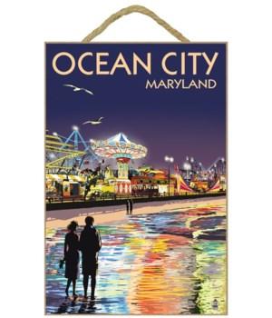 Ocean City, Maryland - Rides at Night -