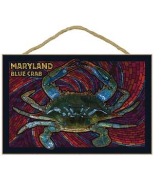 Maryland - Blue Crab Paper Mosaic - Lant