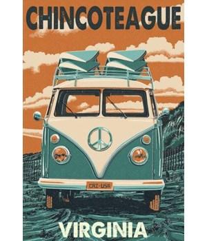Chincoteague, Virginia - VW Van Letterpr