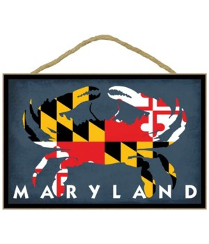 Maryland - Crab Flag - Lantern Press 7x1