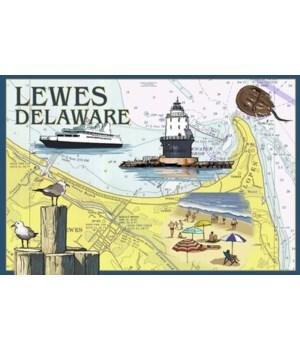 Lewes, Delaware - Nautical Chart #2 - La