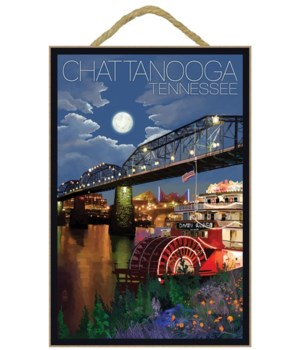 Chattanooga, Tennessee - Skyline at Nigh