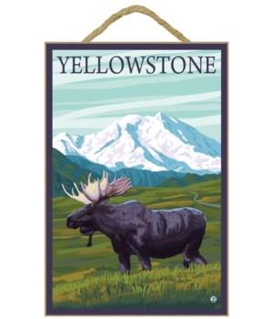 Yellowstone, Montana - Moose and Mountai
