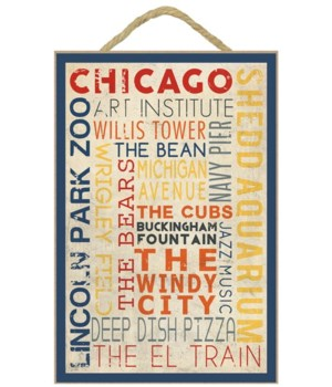 Chicago, Illinois - Typography - Lantern