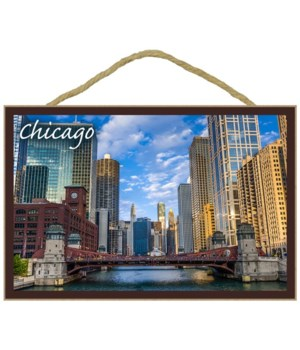Chicago, Illinois - City and River - Lan