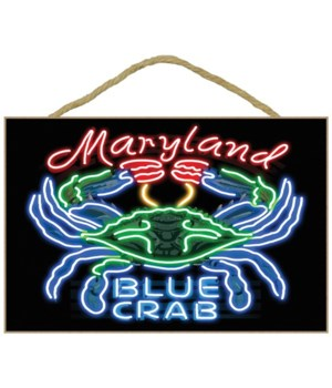 Maryland - Blue Crab Neon Sign - Lantern