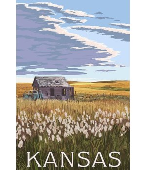 Kansas - Wheat Fields & Homestead