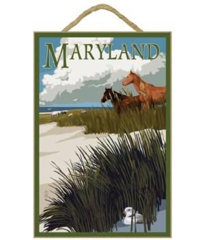 Maryland - Horses & Dunes - Lantern Pres