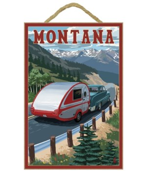 Montana - Retro Camper - Lantern Press 7