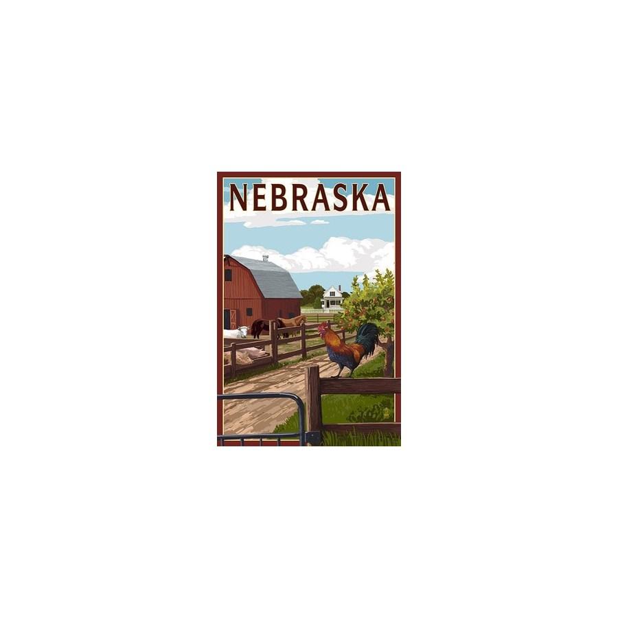 Nebraska - Barnyard Scene