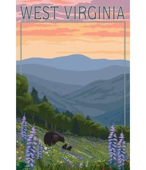 West Virginia - Bear & Spring Flowers