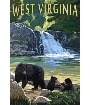 West Virginia - Waterfall & Bears