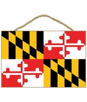 Maryland - State Flag - Lantern Press 7x