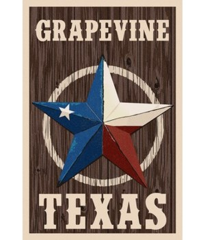 Grapevine,Texas - Barn Star - Letterpres