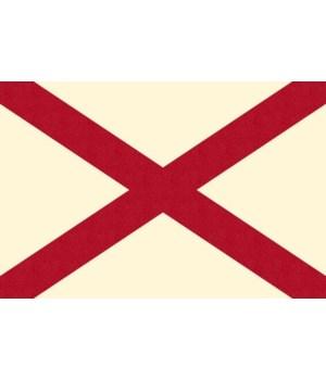 Alabama State Flag - Letterpress - Lante