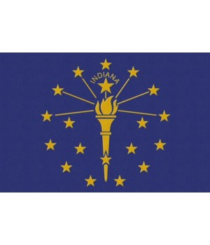Indiana State Flag - Letterpress - Lante