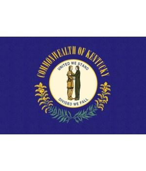 Kentucky State Flag - Letterpress - Lant